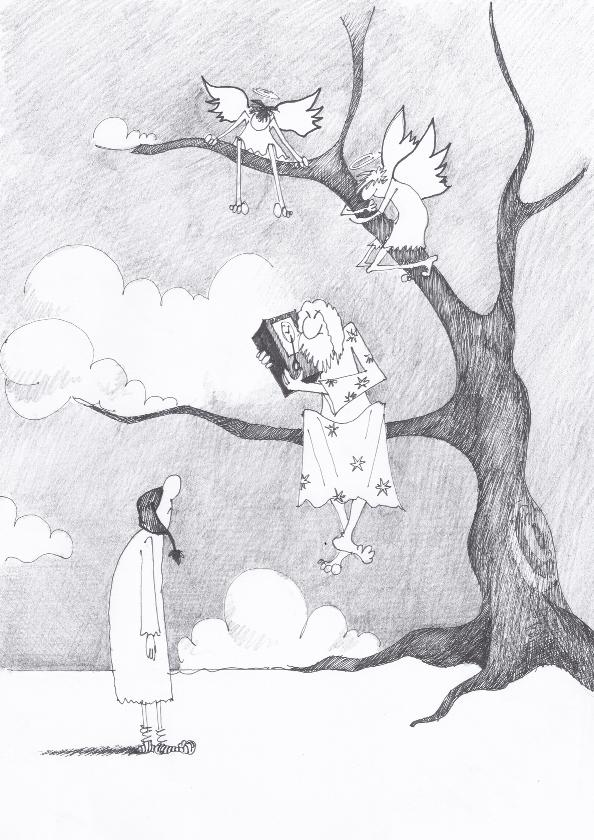 ilustrație Kiki Georgescu, dincolo de ferestre